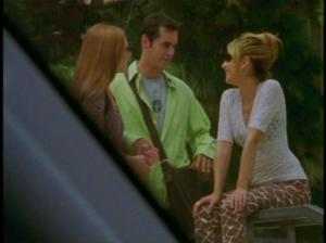 Except these pants. Don't want to touch on these pants. Keep them, Buffy.